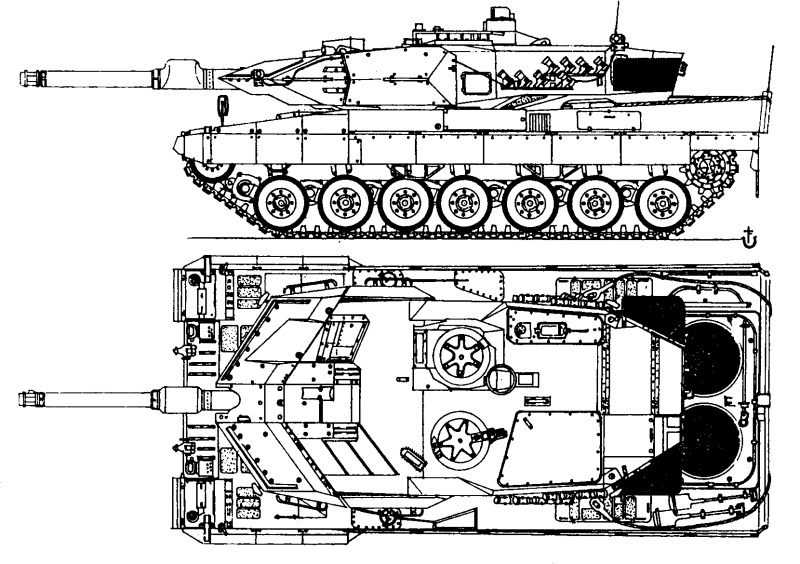 чертеж танка Леопард А5